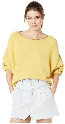 Free People Bardot Sweater (Black/White Combo) Women's Clothing