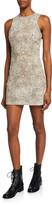 Alexander Wang Sleeveless Cheetah-Print Mini Sheath Dress