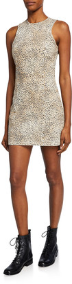 alexanderwang.t Sleeveless Cheetah-Print Mini Sheath Dress