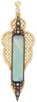 Armenta Old World 18K Gold, Chrysoprase, Moonstone & 0.36 Total Ct. Diamond Large Pointed Mesh Enhancer