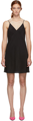 Fleur Du Mal Black Silk Mini Slip Dress