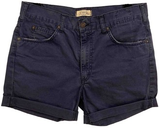Mauro Grifoni Blue Cotton Shorts for Women
