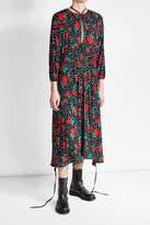 Vetements Printed Crepe Dress
