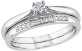 Allura 0.17 CT.T.W. Diamond Prong Set Wedding Ring in Sterling Silver (GH I2:I3) - Tevolio