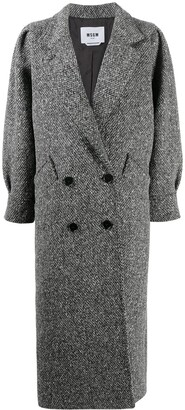 MSGM Double-Breasted Virgin Wool Coat