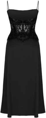 Rasario Black Lace Corset Dress
