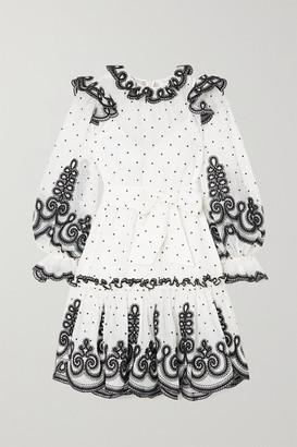 Zimmermann The Lovestruck Rope Embroidered Linen And Silk-blend Organza Mini Dress