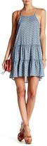 Love Stitch Side Lace-Up Printed Dress
