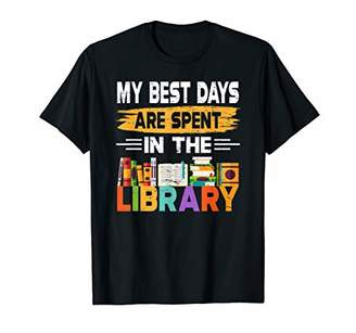 LIBRARY Funny Book Lover TShirt Spend All Day In The T-Shirt