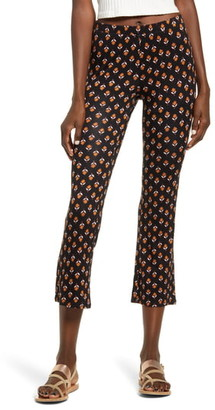 Billabong Sun Down Cropped Floral Print Pants