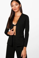 boohoo Martha Collarless Blazer