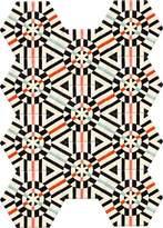 Kinder GROUND Rectangle Deconstructed Carpet - Kaleidoscope (11 piece Hexagon)