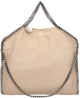 Stella McCartney Beige Faux Leather Falabella Tote Fold Over Bag