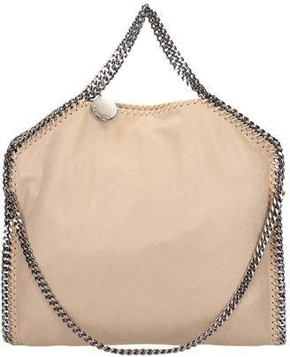 Stella McCartney Beige Faux Leather Falabella Tote Fold Over Bag