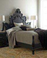 Horchow Nicolette Black King Bed