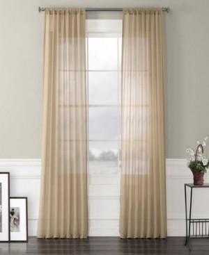 "Exclusive Fabrics & Furnishings Exclusive Fabrics Furnishings Faux Linen Sheer Curtain 96"" x 50"" Curtain Panel"