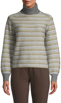 Vince Fair Isle Striped Turtleneck Sweater