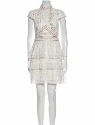 Thurley Mock Neck Mini Dress w/ Tags White