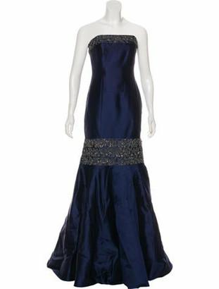 Randi Rahm Embellished Maxi Gown Navy