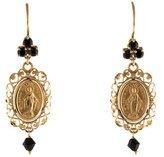 Dolce & Gabbana 18K Sapphire Madonna Filigree Earrings