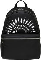 Neil Barrett Bolts Printed Nylon Backpack