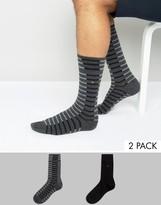 Tommy Hilfiger Socks 2 Pack Fast Track Stripe