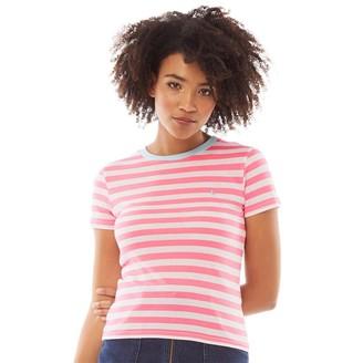 Jack Wills Womens Bernadette Stripe Ringer T-Shirt Pink