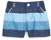 Andy & Evan Infant Boy's Navy Stripe Swim Trunks