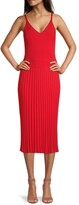 Thumbnail for your product : Milly Cami Top Pleated Midi Dress