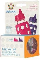 Green Baby Lifefactory Sippy Cap Set - Raspberry & Royal Purple - 2 ct