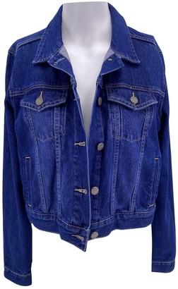 Paige Blue Cotton Jacket for Women