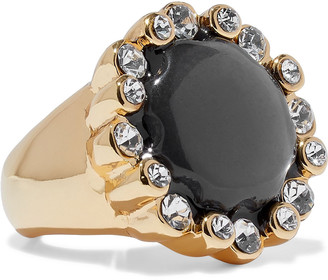 Kenneth Jay Lane 22-karat Gold-plated, Stone And Crystal Ring