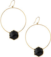 Lana 14k Dusk Onyx Dangle Hoop Earrings