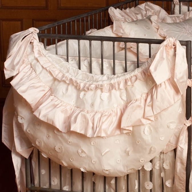 Lulla Smith Petit Ange Exclusive Lausanne Silk Crib Bedding