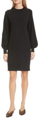 Club Monaco Madisson Long Sleeve Cotton & Wool Blend Sweater Dress