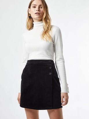 Dorothy Perkins Wrap Cord Button Skirt - Black