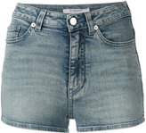 Givenchy patch detail denim shorts - women - Spandex/Elastane/cotton - 36