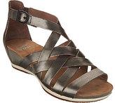 Dansko As Is Leather Multi-strap Wedge Sandals - Vivian