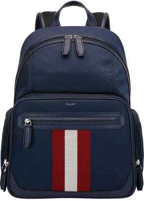 Bally Men's Chapmay Woven Striped-Front Backpack