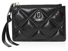 Marc Jacobs Quilted Softshot Leather Top Zip Wallet