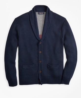 Brooks Brothers Supima Cotton Ocean Motif Cardigan