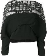 Chalayan draped graphic panel blouse