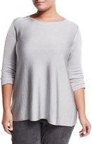 Marina Rinaldi Abitato 3/4-Sleeve Crepe Sweater, Plus Size