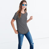 Madewell Whisper Cotton Crewneck Tee in Hardy Stripe