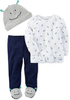 Carter's 3-Pc. Alien Hat, T-Shirt & Footed Pants Set, Baby Boys (0-24 months)