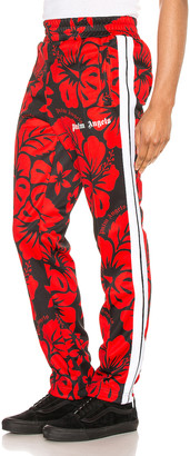 Palm Angels Hawaiian Track Pant in Black & Red | FWRD