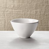 Crate & Barrel Marin White Mini Bowl