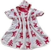 Black Temptation Cute Cotton Baby Hooded Bath Towel Kids Cloak Bath Towel Bathrobe Deer Red