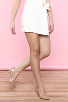 Flying Tomato White Self Tie Skirt
