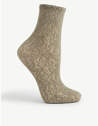 Wolford Reese sheer lace socks
